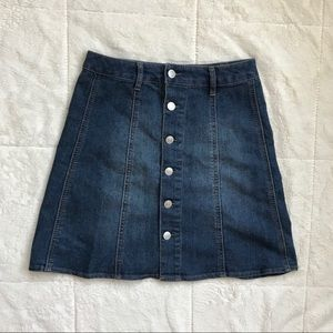 Missimo target jean skirt button up